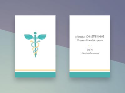 Medical business card caduceus medical card business