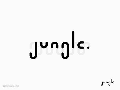 Jungle minimal type font custome type branding symbol mark logotype logo identity