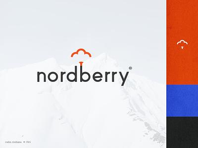 Nordberry Logo logotype modern elegant simpe type letter berry bold minimal brand