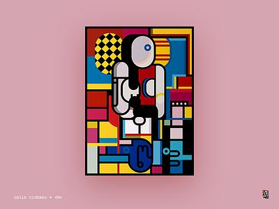 If Picasso had Illustrator poster color cubism minimalism illustration