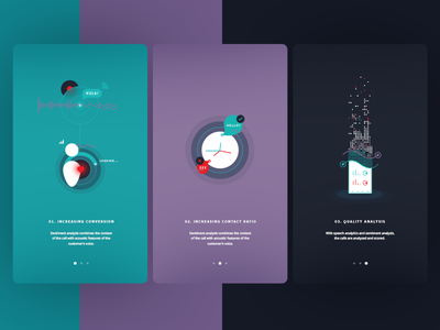 UI & Illustration onboarding data user time ai product intelingence artificial future minimal illustrations ui