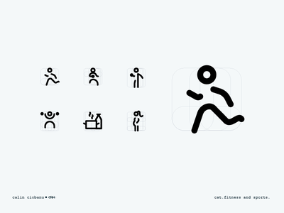 Fitness - iconography health food nutrition woman pregnant man run lifting weight sport icons iconography
