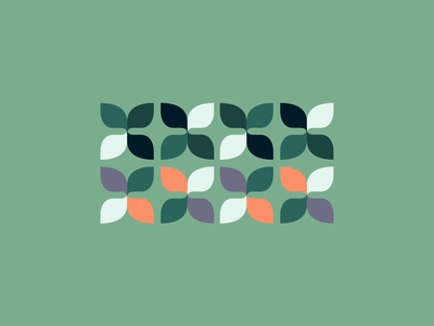 Color and Pattern exploration flower nature illustration design branding logo minimal mark brand