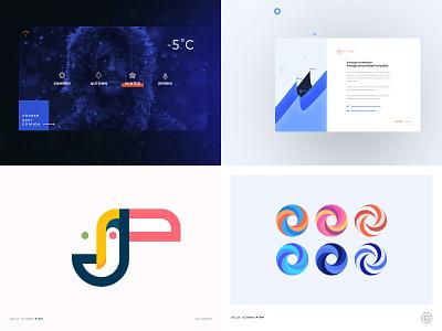 Top 4 2018 weather bird ring chart illustration brand logo ui minimal