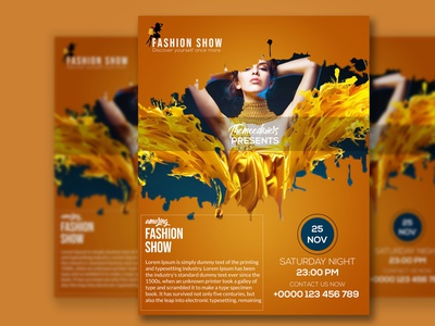 fashion  show flyer social media banner animation typography icon restaurant flyer design logo design corporate flyer flyer minimal ux ui web vector illustration branding flyer design