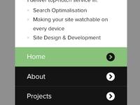 Portfolio V2 Mobile menu