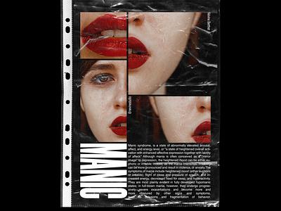 MANIC typographie typogaphy poster art editorial design poster poster design photoshop art director visual art visual artist poster project manic