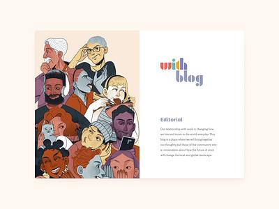 With Blog Branding blog web illustration typography logo design branding