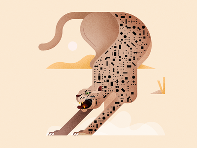 Canto 1 - Panther adobe inferno dante canto panther wacom photoshop illustrator vector illustration