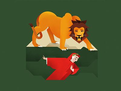 Inferno - Canto I - The Lion texture noise grain inferno dante lion design wacom photoshop vector illustrator illustration