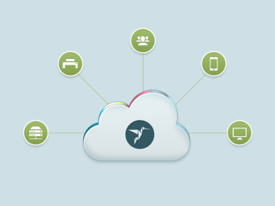 Cloud Managed Printing ezeep printing icon illustration