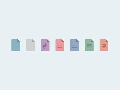 document type icons ezeep printing icon web document