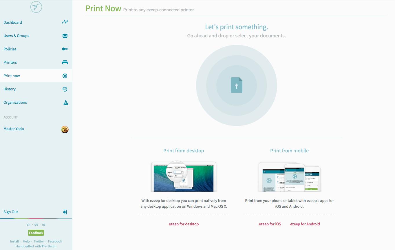 Web app   print