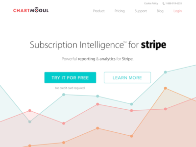 Billing system page business subscription saas graphs billing stripe chartmogul