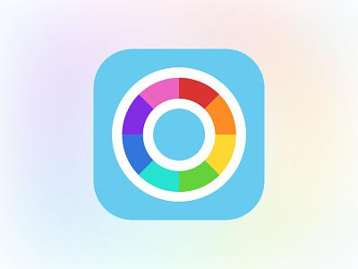Rolo App Icon calendar circle spectrum flat icon app ios