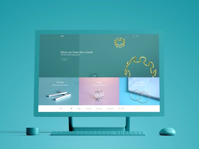 Jewl - eCommerce web design desktop store theme ux ui fashion jewellery ecommerce