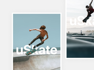 uSkate photography type art direction culture design skateboarding poster minimal
