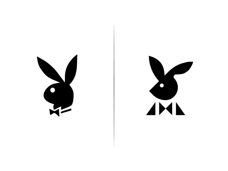design playboy logo png