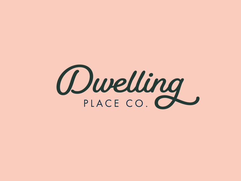 Dwelling Place Co. (Type Lockup) poster monogram design type design type art typedesign typography logo design graphic design branding concept brand design branding logo