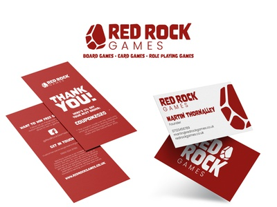 Red Rock Games Branding freelance logo designer freelance design freelance designer freelance logo designer poster logo design branding flyer design business card typography graphic design brand design logo design