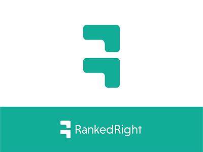 RankedRight Logo Design (Unused) packaging freelance design freelance logo designer tech design tech logo tech branding design typography logo design graphic design branding logo