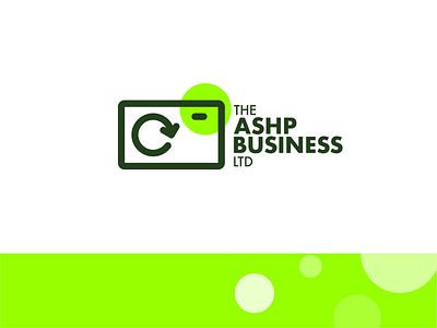 ASHP Business Unused Concept identity identity design branding design icon ui vector illustration monogram green branding design typography logo design graphic design branding logo