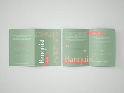 Banquist: Sally Abe Menu Design premium branding premium menu design premium design illustration monogram typography logo design branding logo editorial design graphic design design pattern menu design