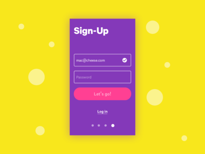 #001 Sign-Up 100 days of ui onboarding signup ui 001