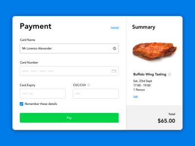 #002 Credit Card Checkout ui 002 credit card checkout 100 days of ui