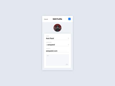 #007 Settings profile settings ui instagram 100 days of ui 007