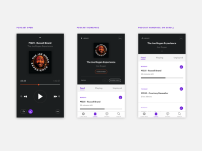 #009 Music Player 009 music player ui podcast 100 days of ui