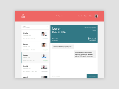 #013 Direct Messaging 013 100 days of ui direct messaging airbnb redesign ui