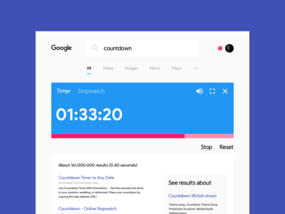 #014 Countdown Timer ui redesign countdown timer google 100 days of ui 014