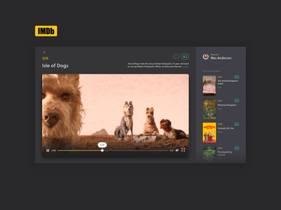 #016 Video Overlay 016 100 days of ui imdb trailer overlay redesign ui