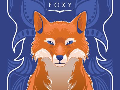 Stay Foxy art vector design fox orange blue nature animal print the ninjabot ninjabot art nouveau poster foxy sexy love