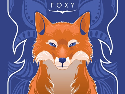 Stay Foxy art vector design fox orange blue nature animal print the ninjabot ninjabot art nouveau poster foxy sexy love