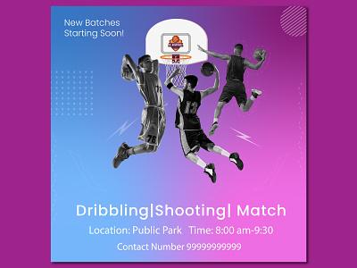 M s Basketball Facebook post designed. web illustration branding design photoshop vector mukesh kumar