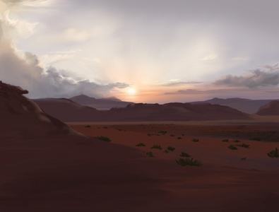 Wadi Rum Bedouin Camp Digital Illustration & Ambient Soundscape digitalartwork digitalartist landscape procreate ambient ambience atmosphere sounddesign soundscape art painting desert desertpainting jordan wadirum digitalpainting digitalart digital