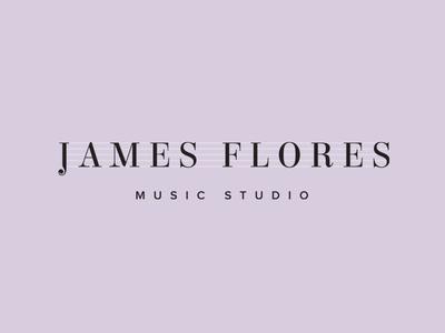 James Flores Music Studio 〰️ Brand identity design