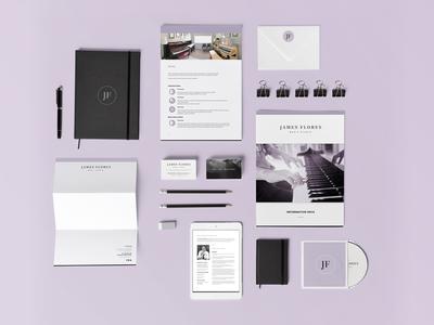 James Flores Music Studio 〰️ Brand identity mock-up