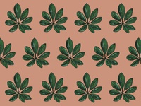 Custom illustrated pattern design for Maeli