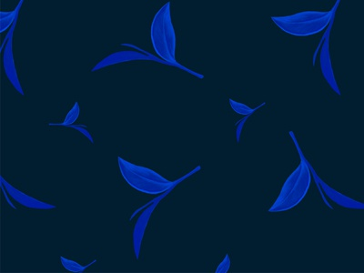 Spooky blue Halloween leaves wallpaper design procreate illustration freebie free foliage floral blue wallpaper pattern leaves