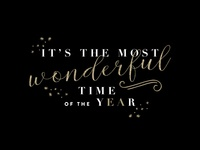 Christmas typographic quote