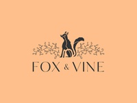 Fox and Vine branding logo design