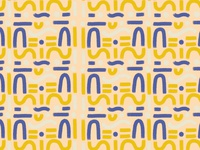 70s Aztec surface seamless pattern design / illustration