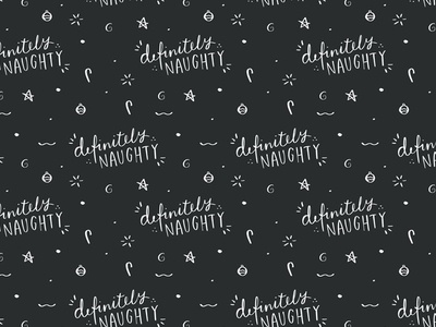 Definitely naughty Christmas gift wrap, wrapping paper freebie downloadable printable freebie hand lettered typographic quote wrapping paper gift wrap christmas