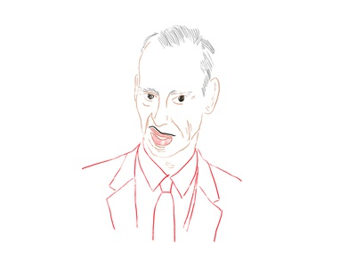 John Waters and his moustache