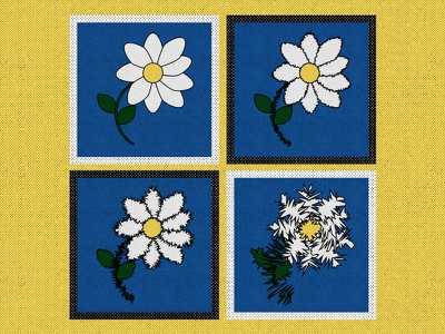 If I made stamps roughen edge stamps half tone illustrator flower