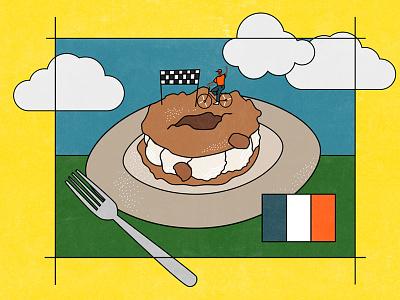New work for Taste patisserie forklift bike ride editorial taste cooking food comic animation carolyn figel
