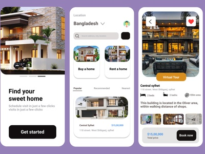 Rent home Or buy home design illustration logo design app